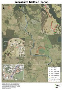 Yungaburra Triathlon Sprint Course 2017